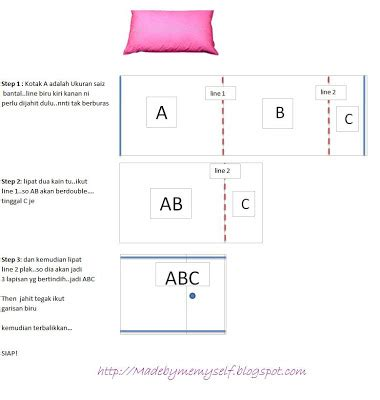 Tutorial Merajut Sarung Bantal | sewing is enjoy tutorial pillow case