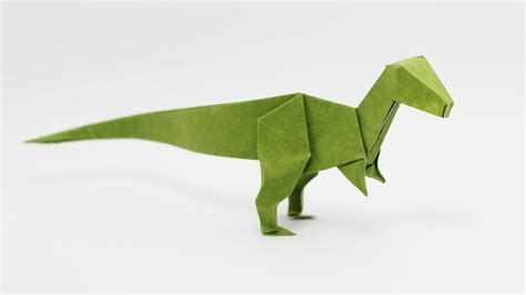 Origami Animals Intermediate - how to make an origami velociraptor designed by jo