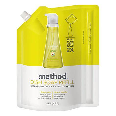 Lemob Reffil Pouch 800ml method dish soap refill pouch lemon mint 36 oz by office depot officemax