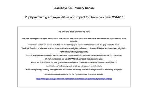 pupil premium report template 2016 pupil premium report 2014 14 blackboys c of e primary school