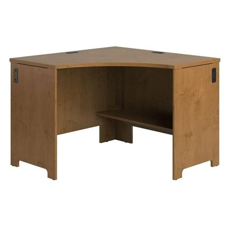 Corner Desk Cherry Bush Envoy Wood Corner Desk In Cherry Pr76320