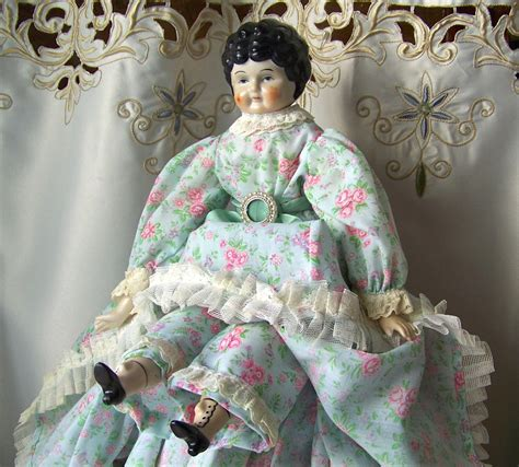 porcelain doll with cloth vintage porcelain china doll cloth by cynthiasattic