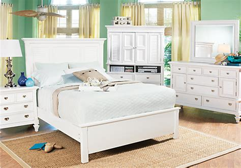 White King Bedroom Set Belmar King White 5pc Panel Bedroom Bedroom Sets