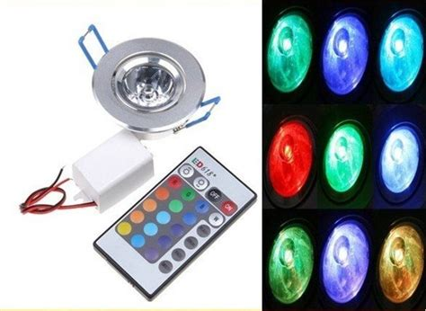 Color Changing Led Ceiling Lights 3w Rgb Led Downlight 90 260v Remote Color Changing
