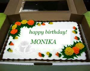 happy birthday monika wishes cake images amp sms quotes