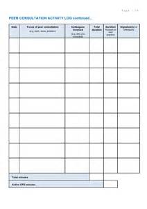 internship hours log template spa cpd journal template 2011