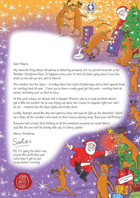 personalised letter from santa charity 33 best nspcc letter from santa images on