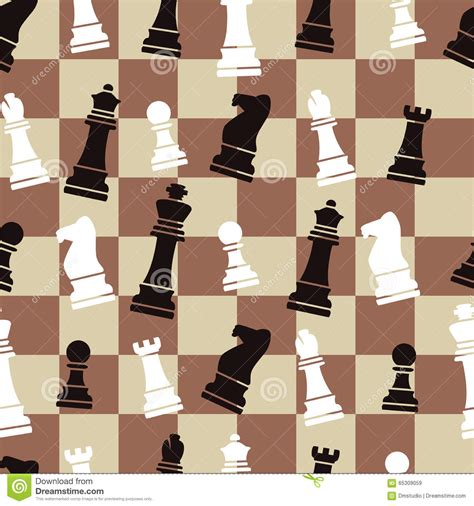 design pattern for chess game seamless chess background pattern vector stock vector