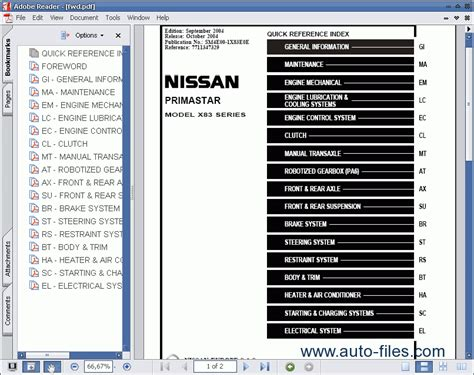 nissan primastar x83 repair manuals wiring