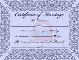 free marriage certificate template blue marriage certificate pictures to pin on