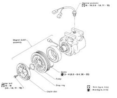 automobile air conditioning repair 1998 nissan sentra head up display repair guides compressor removal installation autozone com