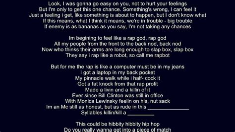 rap lyrics eminem rap god legit verse lyrics