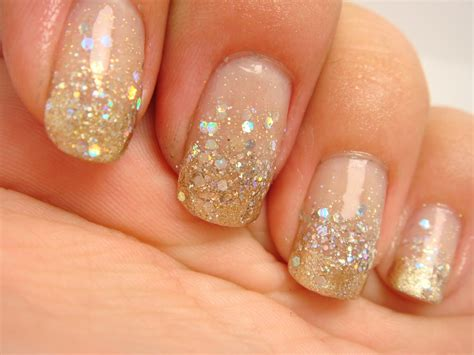 All Nail by All Nail And Cosmetics Gold And Silver Glitter Gradient