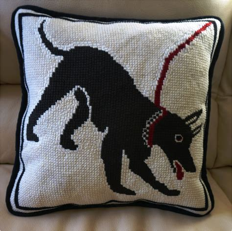 Needlepoint Pillow by Mosaic Needlepoint Nuts About Needlepoint