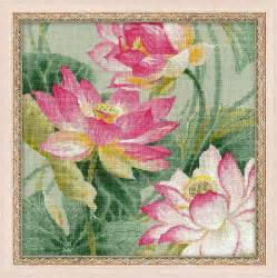 Counted Cross Stitch Kits - riolis counted cross stitch kit lotuses intermediate