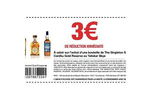 coupon reduction alcool