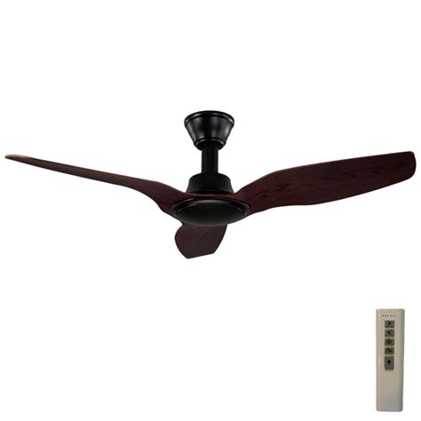 Trident Ceiling Fan High Airflow Black With Walnut