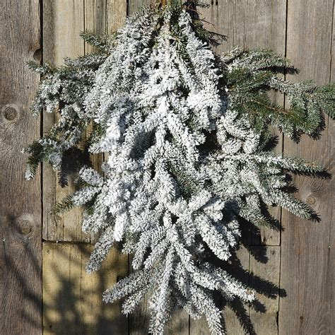 28 best flocked branches white flocked flowering