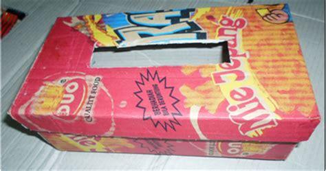 Teh Kotak 1 Kardus kreasi kerajinan tangan daur ulang limbah membuat kotak tisue dari kardus bekas