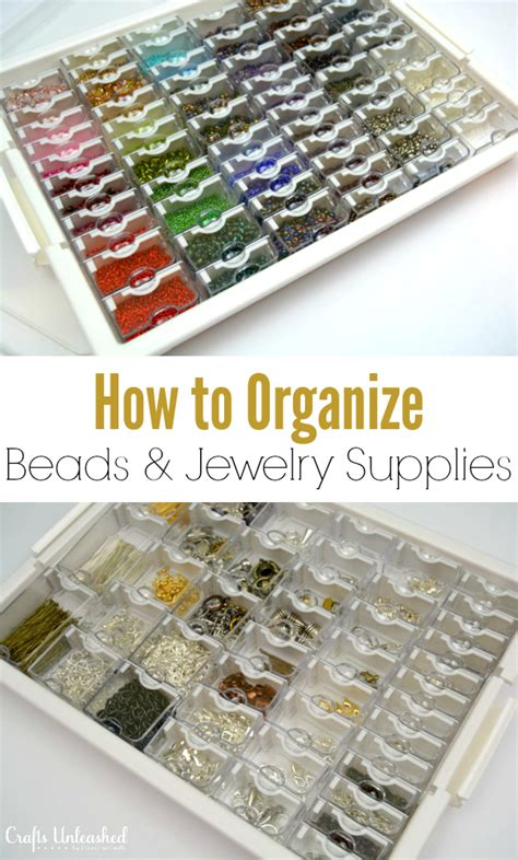 how to organize how to organize jewelry supplies crafts unleashed