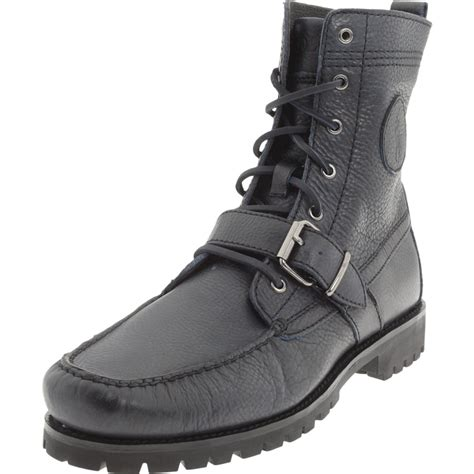 polo ralph mens ranger laceup hiking boot in black