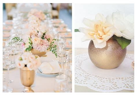 Gold Vases Wedding by And Yellow Gold Wedding Centerpiece Vases
