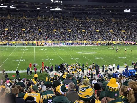 section 116 lambeau field my trip to lambeau field to cheer on the packers in memory