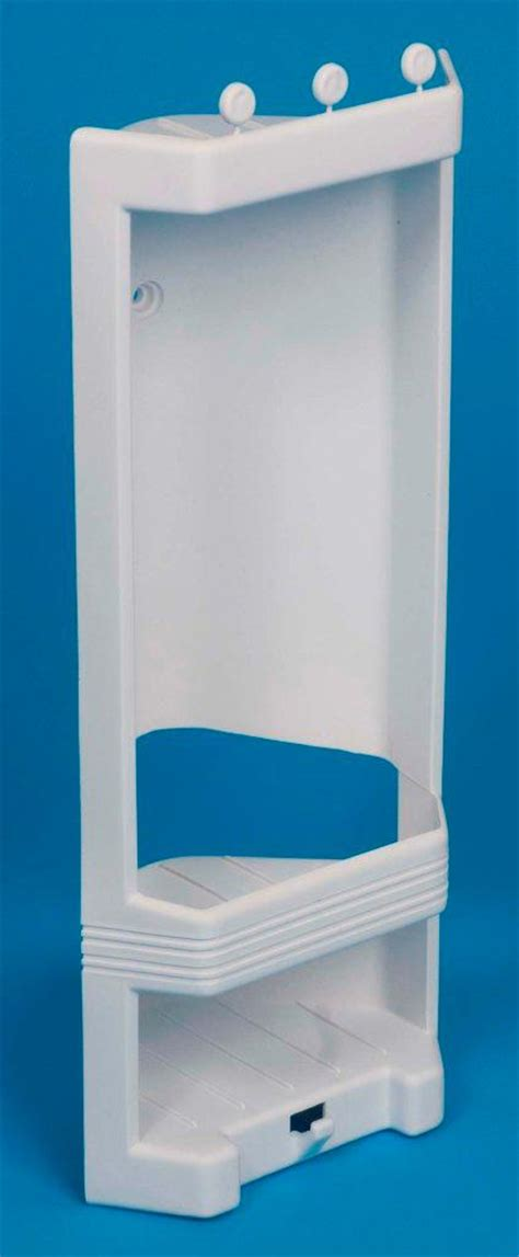 Plastic Shower Corner Shelf by White Plastic Corner Shower Caddy Shelf Brand New Ebay