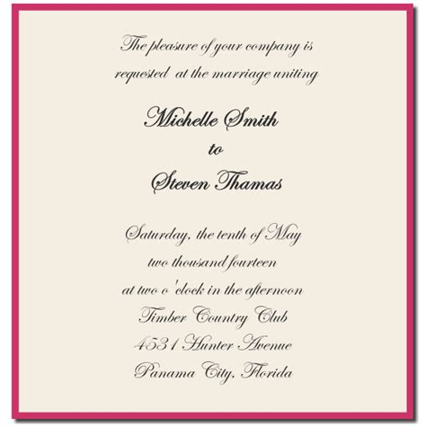ideas for formal wedding invitation templates