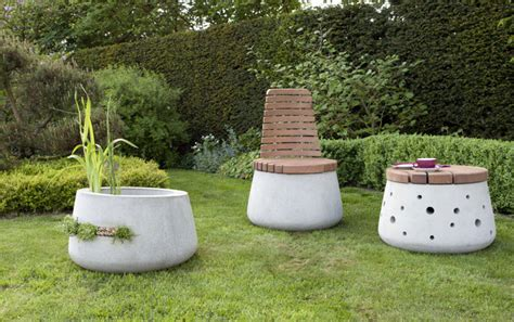 concrete garden concrete garden furniture interiorzine