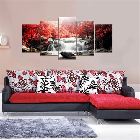 5 cascade mangrove waterfall abstract canvas wall painting