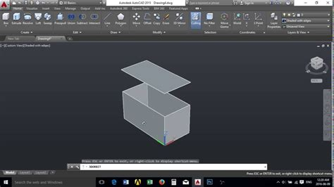 box auto dwg autocad tank hollow box