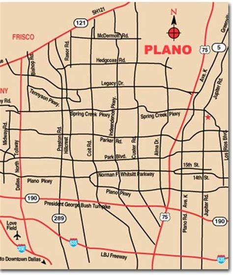 texas map plano plano city map plano texas mappery