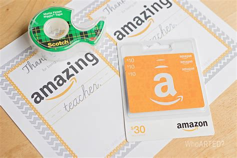 Amazon Gift Card Printable For Teacher - teacher appreciation week monday who arted