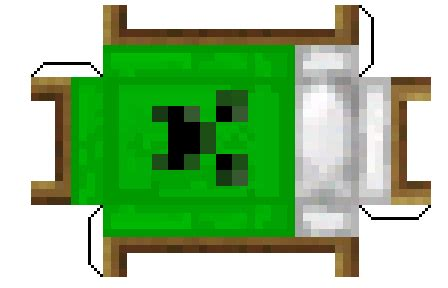 Minecraft Papercraft Bed - papercraft creeper bed