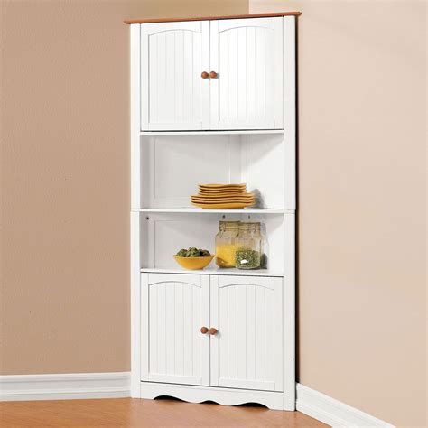 Stunning Wedge Shaped Small White Corner Cabinet For White Corner Cabinets For Kitchen