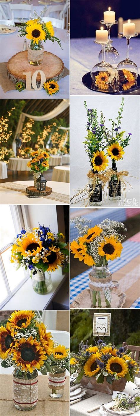 18 cheerful sunflower wedding centerpiece ideas oh best day