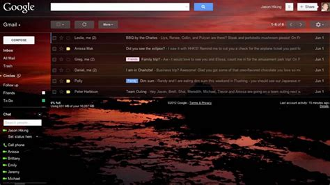 Themes For Gmail Background | new gmail custom themes let you set your own background