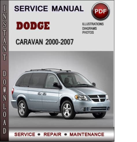 service manual repair manual 2000 dodge grand caravan free dodge caravan 2000 2007 service