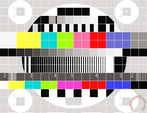collection 10 tv multicolor signal test pattern painting tv multicolor signal test pattern