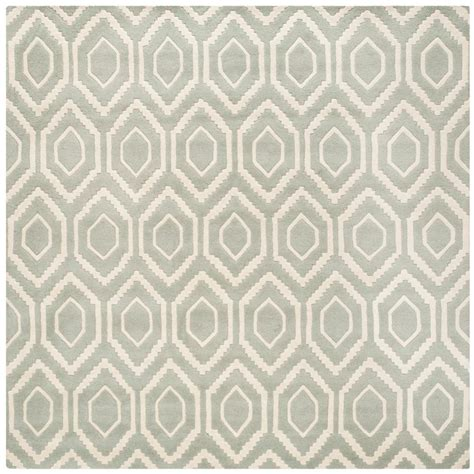 4 foot square rug safavieh chatham grey ivory 4 ft x 4 ft square area rug cht731e 4sq the home depot