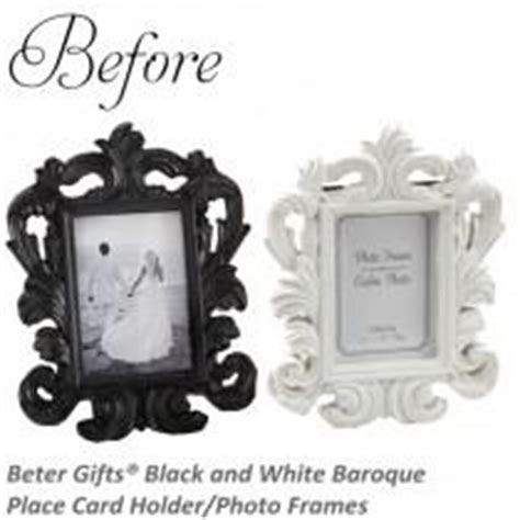 black and white wedding place card holders baroque wedding weddbook
