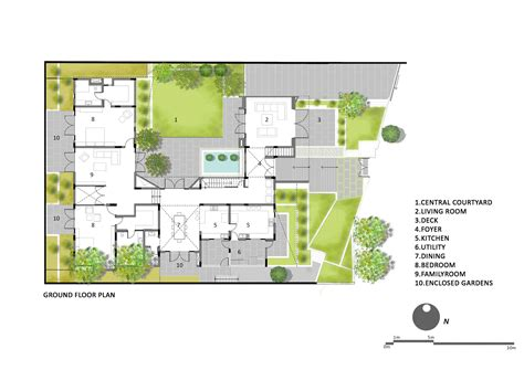 floor plans for homes with a view 0629 12 house plan gallery of courtyard house architecture paradigm 21
