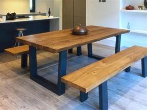 Rustic Dining Tables With Benches Rustic Dining Table Set With Bench Abacus Tables