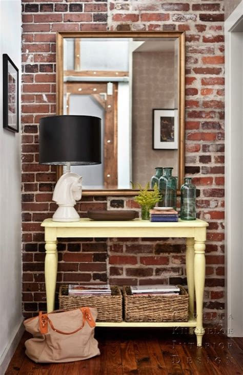 Entryway Ideas For Small Homes Yellow Console Table Eclectic Entrance Foyer Capella