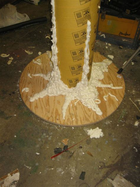 How To Make A Paper Mache Tree - paper mache tree props once the foam was easily