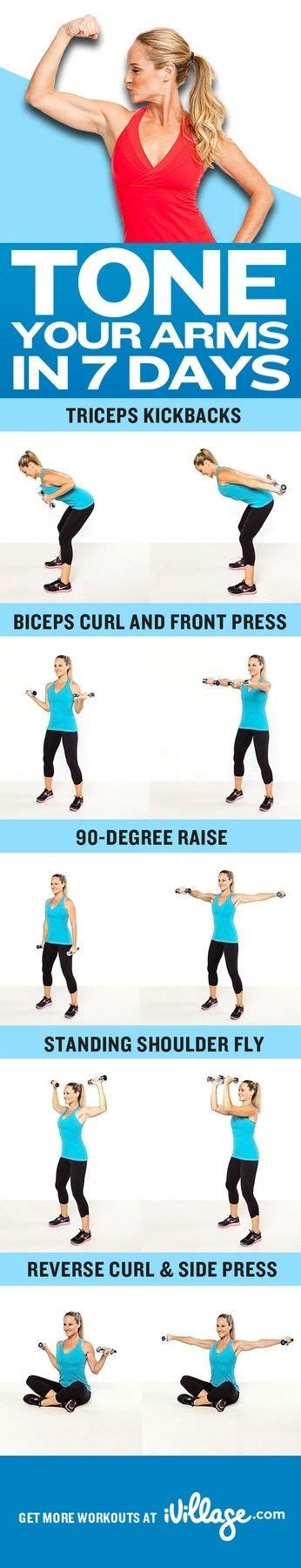 7 Great Exercises To Tone Your Arms by Tone Your Arms In 7 Days Fitness Motivation