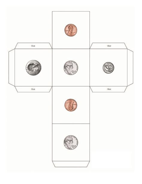 8 best images of printable money dice coin dice template