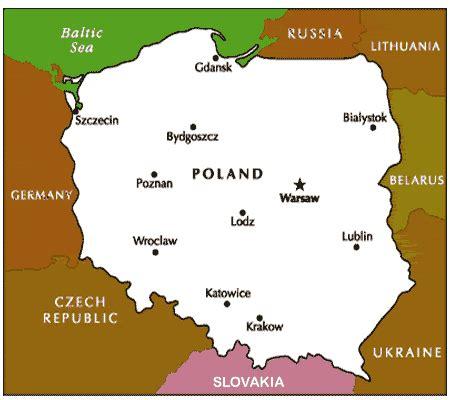 printable map of poland free clipart