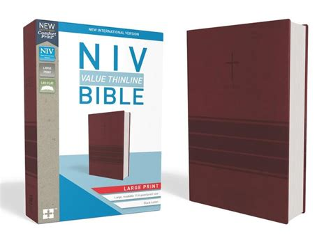 nkjv thinline bible large print imitation leather burgundy letter edition comfort print books niv value thinline bible large print imitation leather